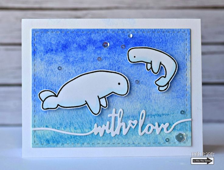 The Alley Way Stamps, TAWS, PiecesbyEmily, Emily Frasier, card making, handmade card, clear stamps, love card