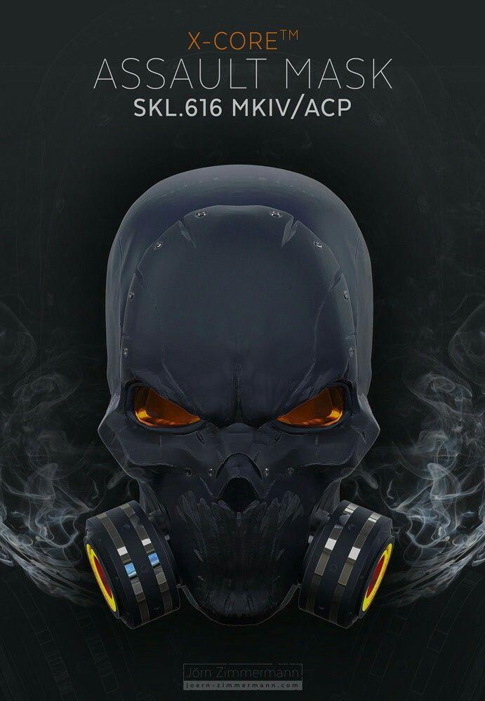 Assault Gas Mask Futuristic Helmet Tactical Armor Cool Masks