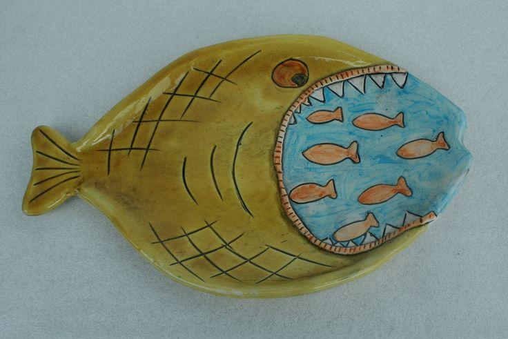 piatto pesce color miele | fish plate honey