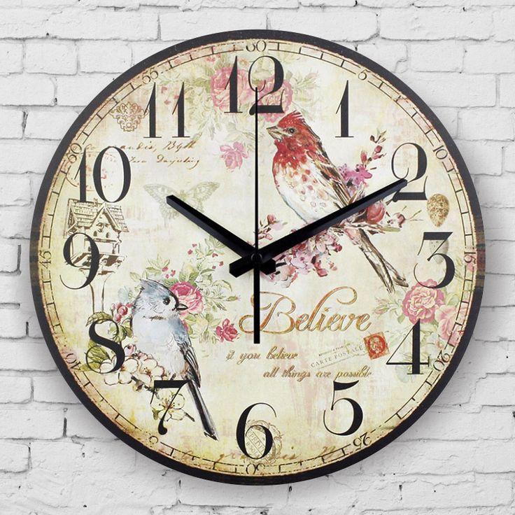 vintage wall clock absolutely silent living room decoration wall clock large decorative wall clock quartz watch wall wanduhr