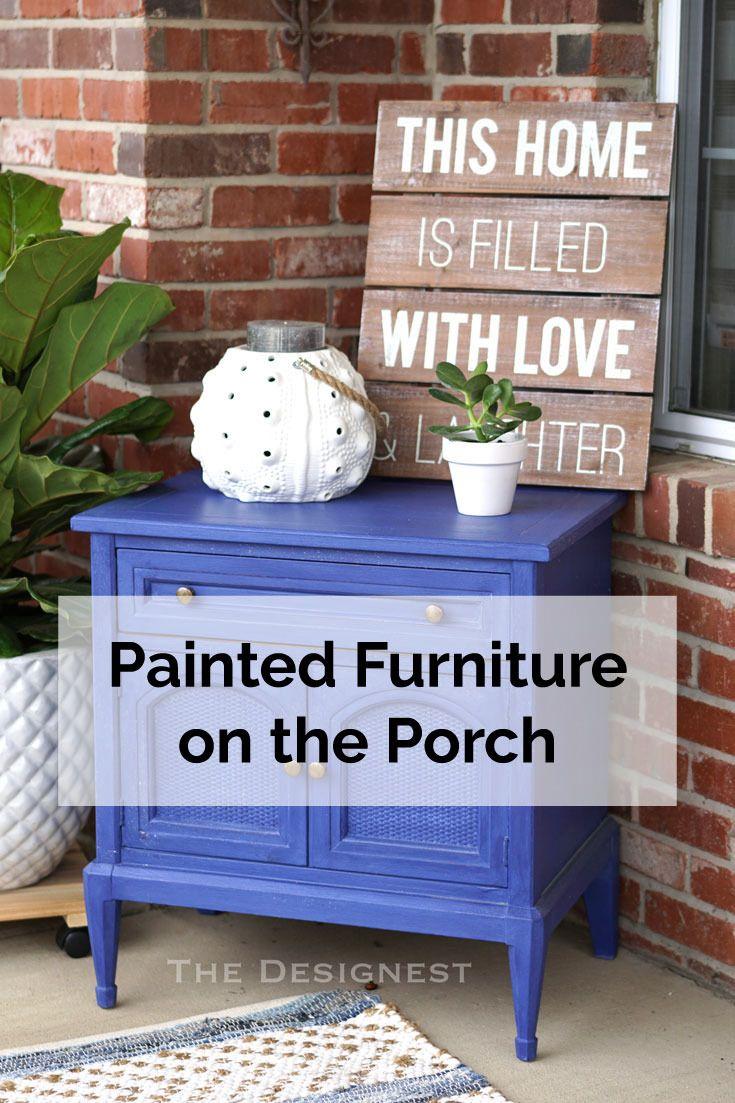 Do you have an old dresser or side table somewhere basement storage dig porch tablethe porchfront