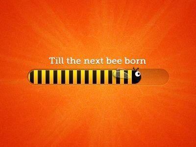 Bee progress bar by Andrew Ckor in Modern Progress Bar Design: 40 Examples for Inspiration