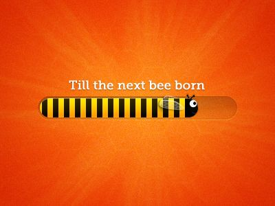 Bee progress bar by Andrew Ckor in Modern Progress Bar Design: 40 Examples for Inspiration