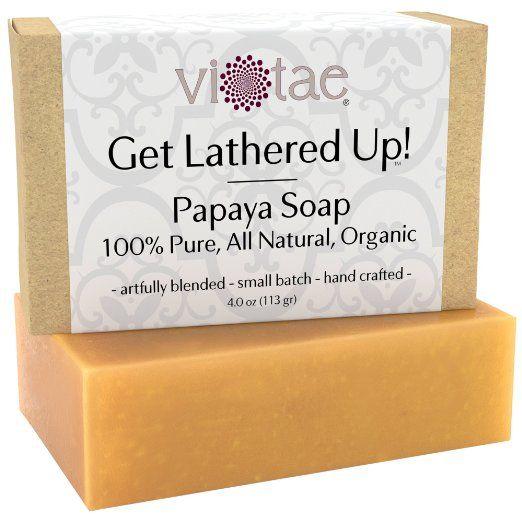 Certified Organic Papaya Soap by Vi-Tae :http://lighteningyourskin.com/certified-organic-papaya-soap-vi-tae/