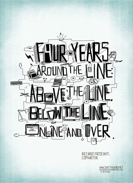 Four years around the line: above the line, below the line, online and over