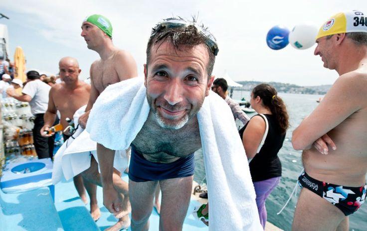 cross-contınental swimming race in Turkey