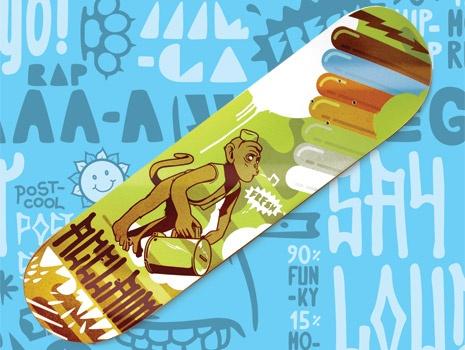 A skateboard designed for Acclaim magazine.