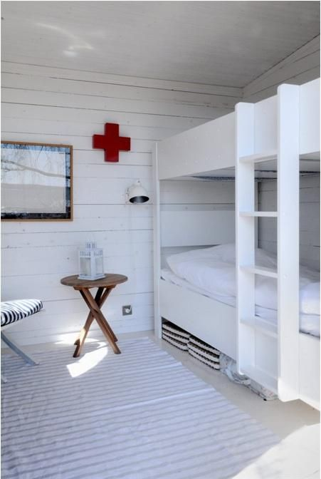 A bunk room in Sweden, via My Scandinavian Retreat.