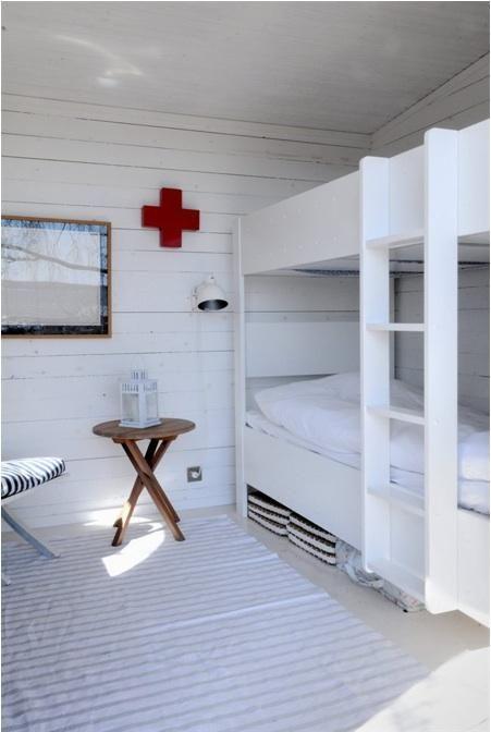 A bunk room in Sweden, via My Scandinavian Retreat.