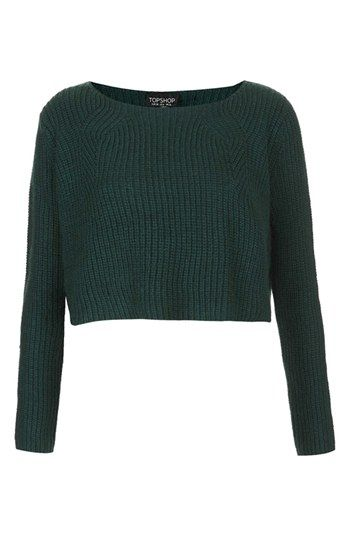 Topshop Ribbed Crop Sweater available at #Nordstrom