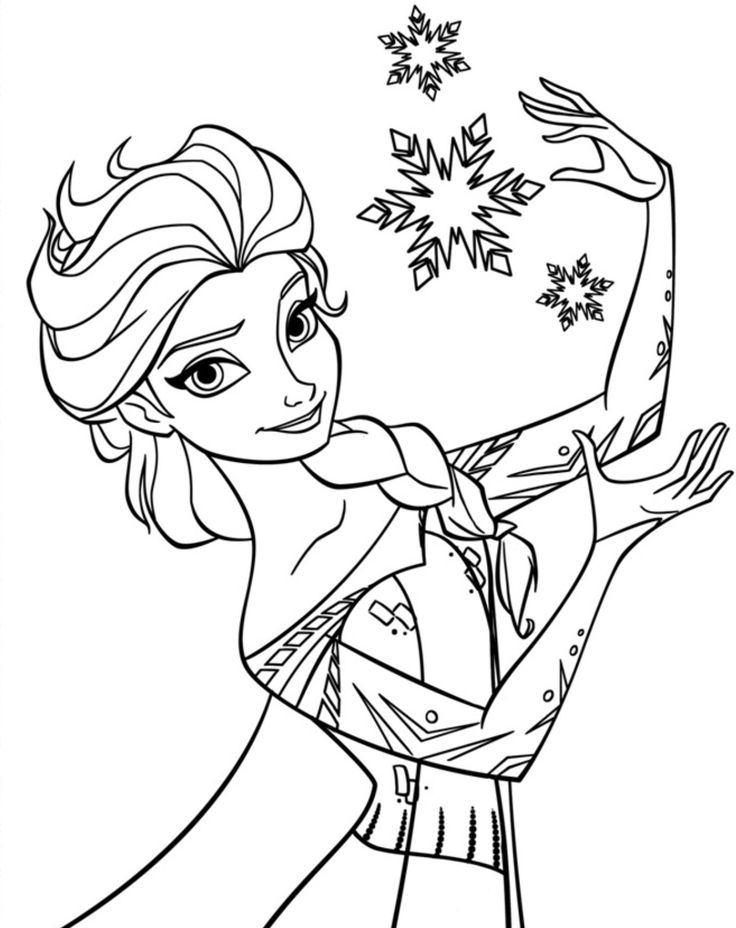 Frozen coloring pages elsa free coloring pages