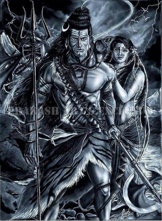 Lord Shiva and Parvoti