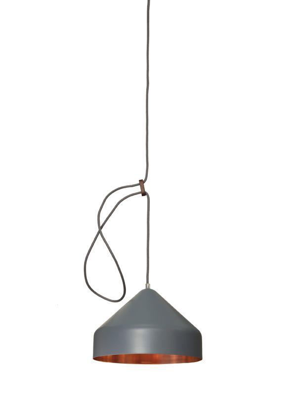 Llus lamp koper donkergrijs - Ontwerplabel Vij5 - Dutch design