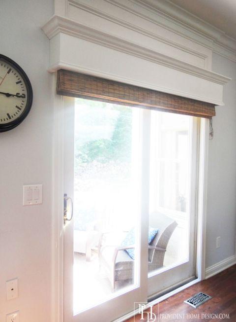 My friend 39 s gorgeous home wood trim sliding glass door for House friend door