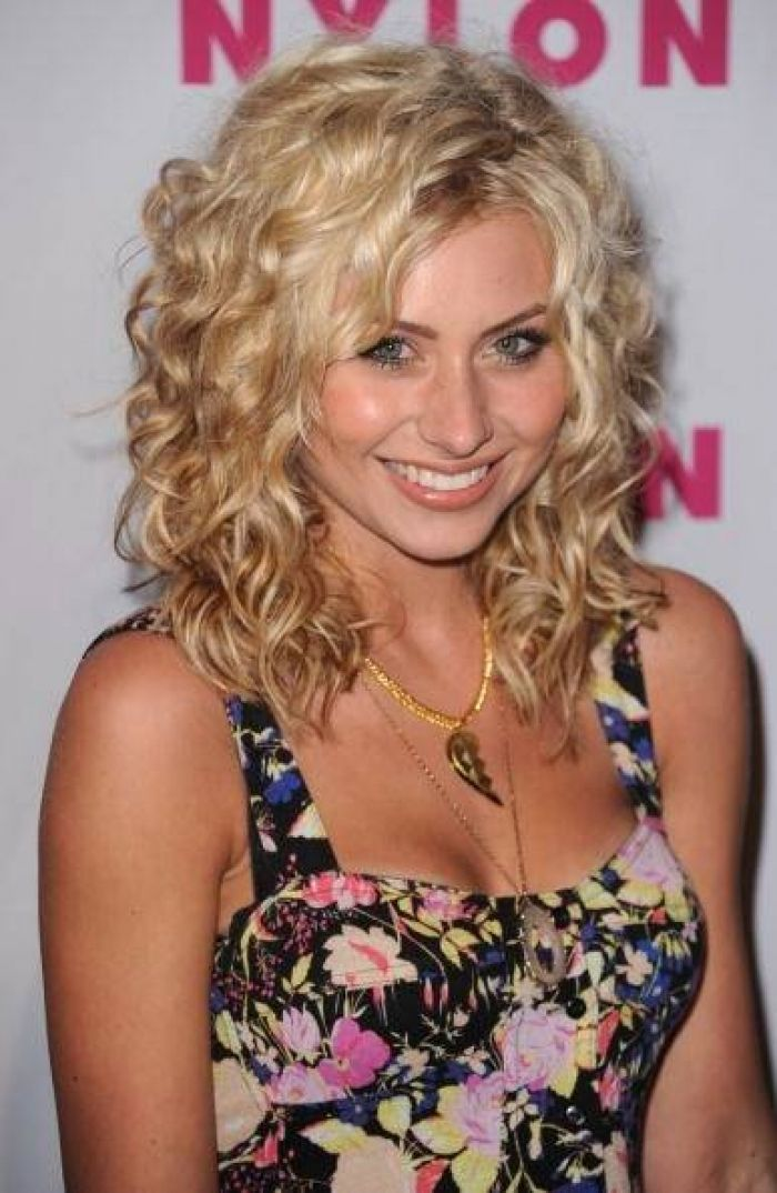 Glamour Long Spiral Perm Hairstyles With Little Curly Hair