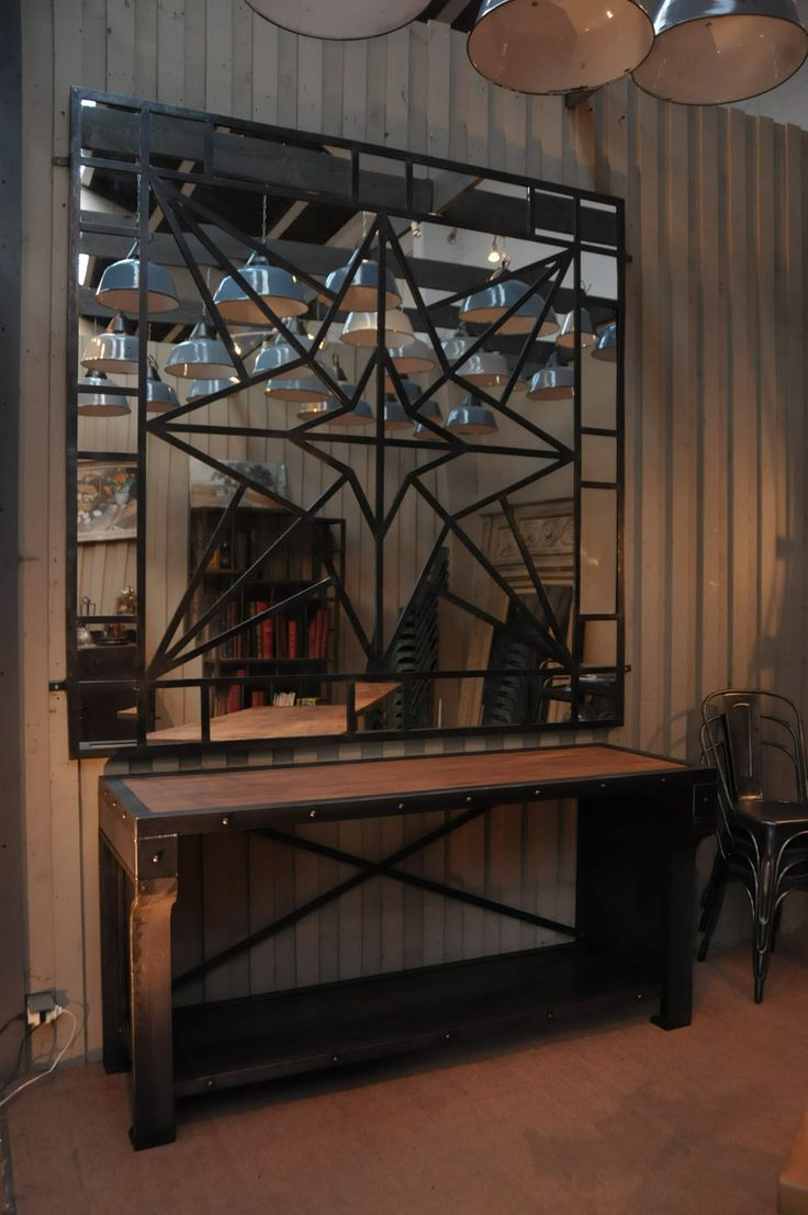 винтажная мебель - зеркало для лофта