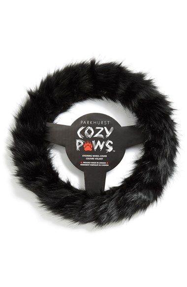 Parkhurst Faux Fur Steering Wheel Cover