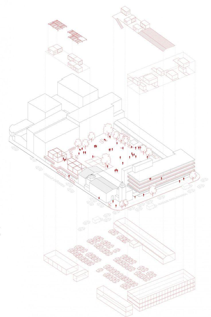 Carles Enrich | Arquitectura + Urbanisme. Drawings. Medellin Experimental Social Housing.