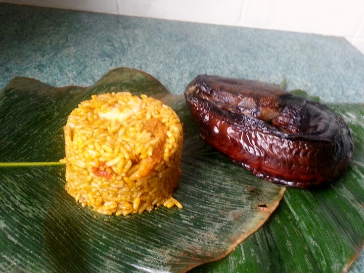 Urhobo Amiedi rice (Banga rice). Banga rice is the urhobo party rice. Directions at http://cookingncleaning.blogspot.co.uk/2012/10/urhobo-banga-rice.html