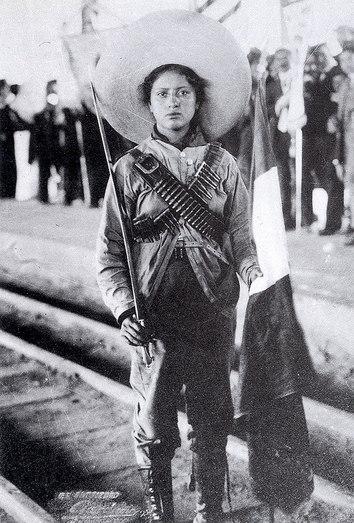 "Mexican Revolution. Adela Velarde Pérez born September 8, 1900. Creator of the revolutionary group the adelitas, who acted as nurses for soldiers injured in combat. From a young age his vocation was medicine, for this reason he joined the Mexican Association of the White Cross. In 1913, he served in the División del Norte. The composer Antonio del Río has dedicated the famous poem ""La Adelita""."