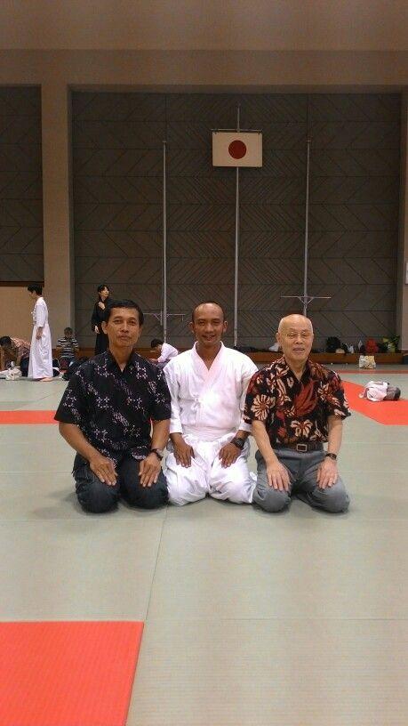 Tora sensei , me , and Higuchi sensei