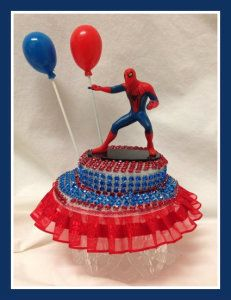 Amazing Spider-man Birthday Party Cake Top Centerpiece Decoration Favor Keepsake http://theceramicchefknives.com/marvel-gift-ideas-amazing-spiderman/
