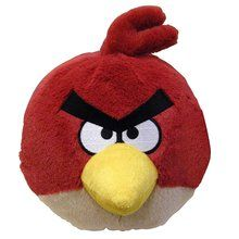 Angry Birds Medium 8 Inch Plush Toy With Sound – Red Bird