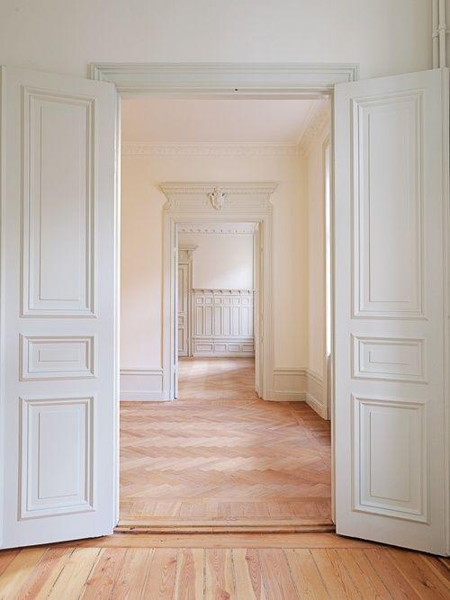 White interior: Doors, Decor, Idea, Floors, Dream, Interiors, House, Space, Design