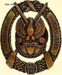 Odznaka żandarmerii wojskowej z pierwszej obrony Lwowa. < 765 pl https://de.pinterest.com/edmund1962/armia-polska/