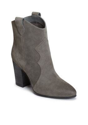 Aerosoles Women's Lincoln Square Ankle Boot - Grey Suede - 12 Medium