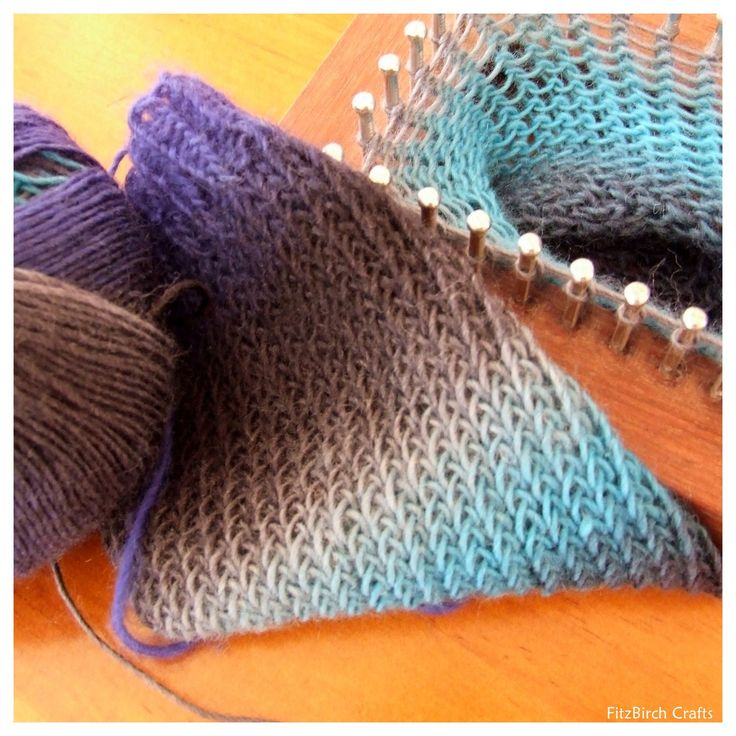 free long loom knitting instructions