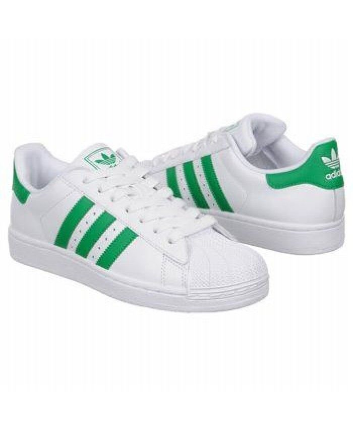 d42d253f204072 Adidas Superstar Womens Classic Style Green And White Shoes On Sale ...