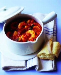 chorizo prawn and fish stew. saturday night sofa supper.