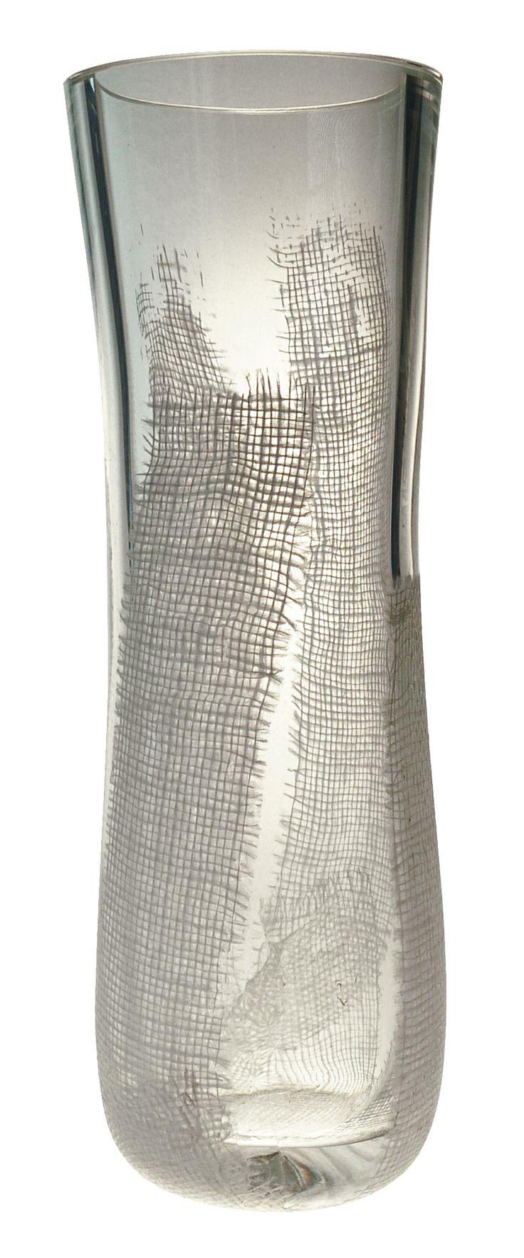 vase verre inclusion tissu chez maniglier