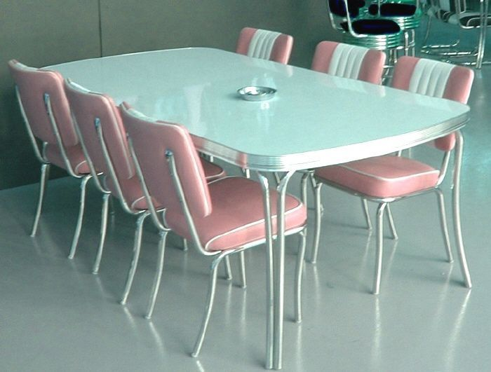 Formica Dining Room Sets Retro Kitchen Chrome Dining Set Retro