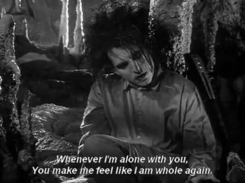 The Cure - Robert Smith in the 'Lovesong' music video from the 'Disintegration' album, released 1989. This song reached #2 in the US charts. 'Whenever I'm alone with you, You make me feel like I am whole again.' <3