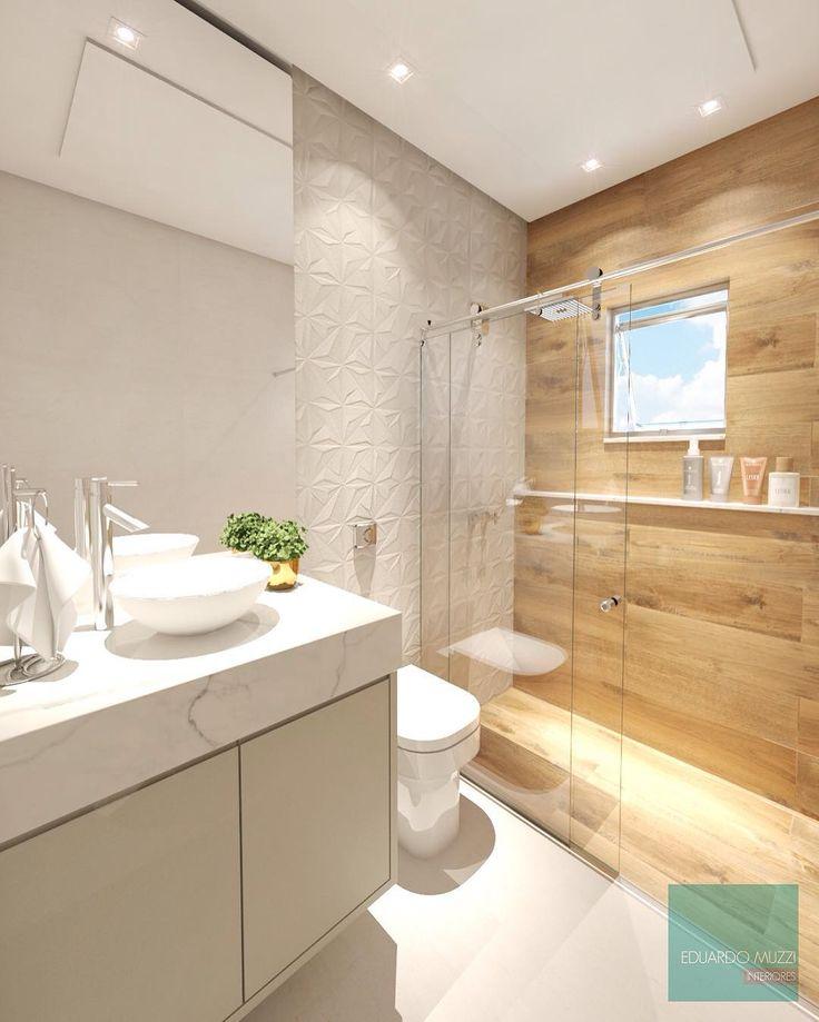 """Eduardo Muzzi-Interiores no Instagram: """"Essa semana foi só banheiros aqui rsrs amando cada revestimento da @ceramicaportinari ❤️ a geometria do Sense Abstract SBE em combinação…"""""""