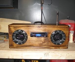 This is a homemade camping radio that I made from a piece of wood , A car stereo ,speakers and a power converter .The sound is incredible.It ...