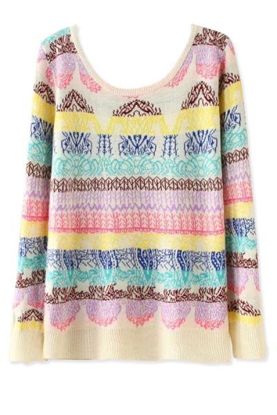 Neon Color Slim Pullover Sweater