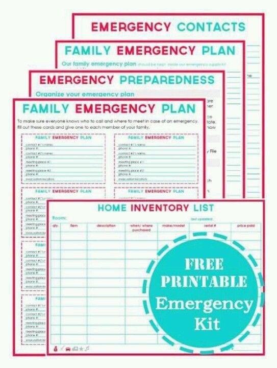 Family Emergency Plan Printables. EasyJournaling.com