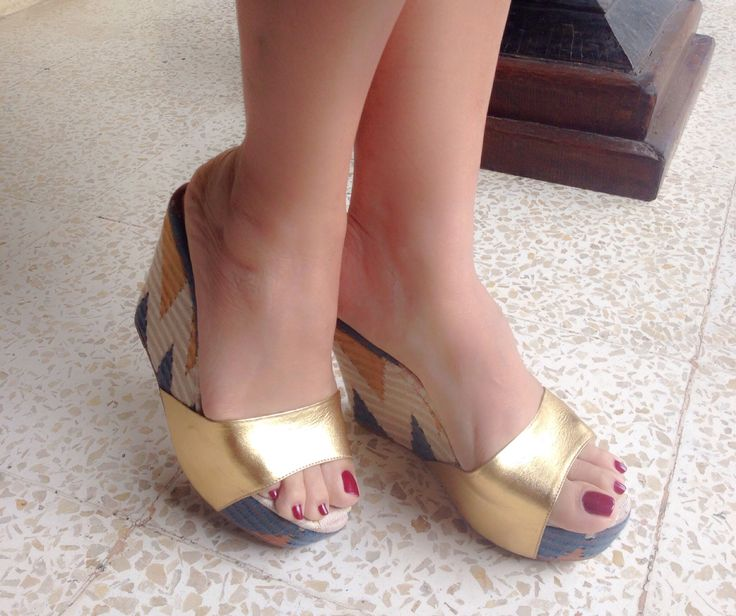 with TABANAN Wedge Sandal in Tenun RangRang by PRibuMI...®