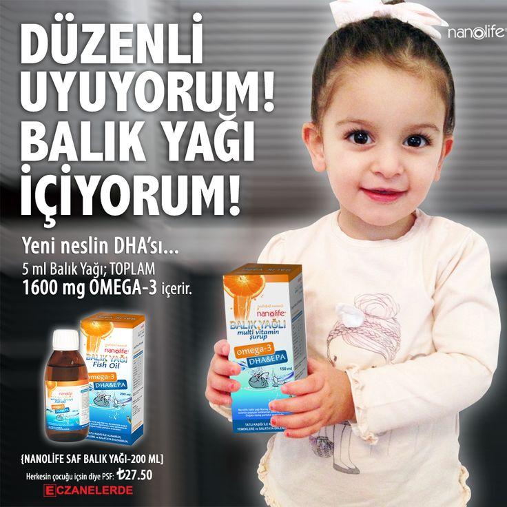 Düzenli uyuyorum! Balık Yağı içiyorum...  Yeni neslin DHA'sı... 5 ml Balık Yağı; TOPLAM 1600 mg OMEGA-3 içerir. http://merkezdenal.com/index.php?route=product/product&keyword=nano&product_id=88