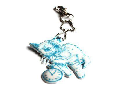 Kitten -koruheijastin design Paola Suhonen, sinivalkoinen