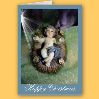 Jesus in the manger Card. $3.25