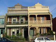 Terraces houses in Victoria