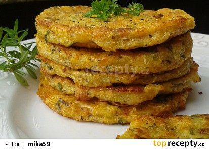 Cuketovo - celerové placičky z trouby recept - TopRecepty.cz