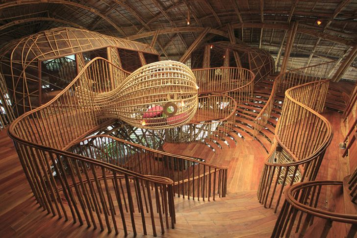 Kids' Learning Centre in Thailand Looks Like a Giant Bamboo Ma...
