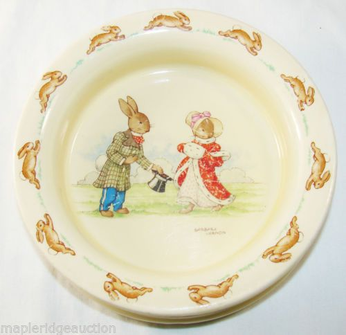 Vintage Royal Doulton Bunnykins Baby Plate Signed Barbara Vernon C 1937 53 | eBay & 224 best Bunnykins images on Pinterest | Royal doulton Children s ...