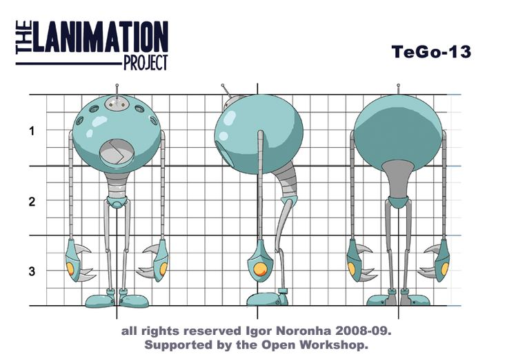 TeGo-13 Character Model Sheet by Igor Noronha