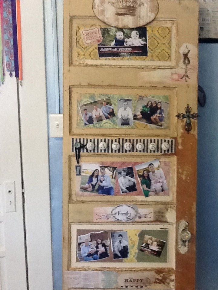 Decoupage Old Door With Family Photos Things I Want To
